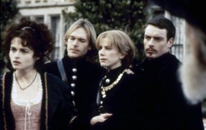left to right: Olivia (Helena Bonham Carter), Sebastian (Steven Mackintosh), Viola/Cesario (Imogen Stubbs), and Orsino (Toby Stephens)