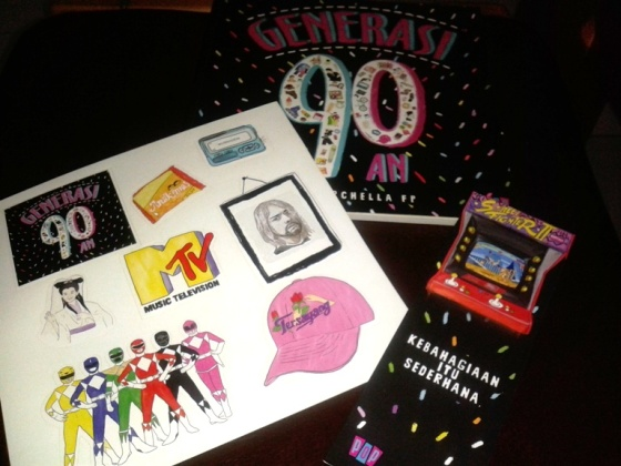 Buku Generasi 90an plus bonus bookmark dan stickers :)