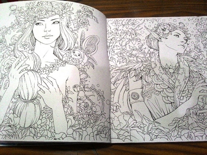 612 In Coloring Book For Adults FANTASIA